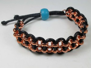 tutorial…leather and chain bracelet