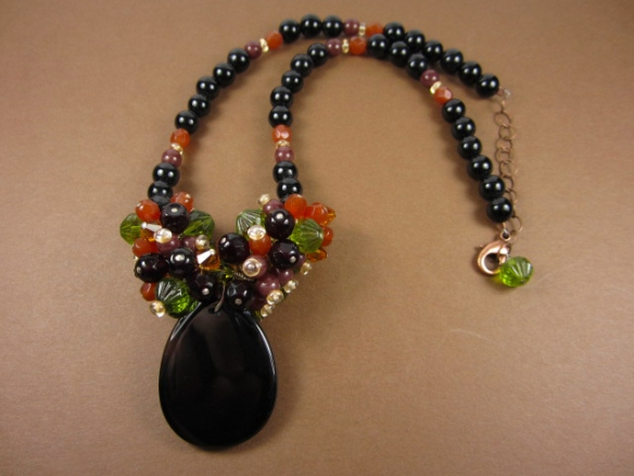 Fall Cluster Necklace