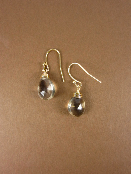 Smokey Quartz Briolettes Earrings