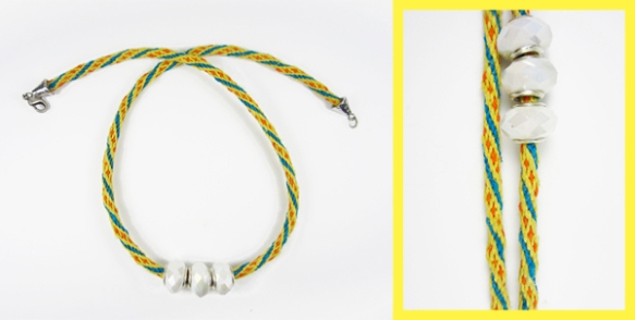 Dayglow Kumihimo Necklace