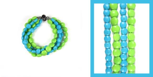 Dayglow Multi Strand Bracelet