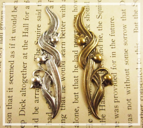 Antique Silver and Brass Flower Filigree