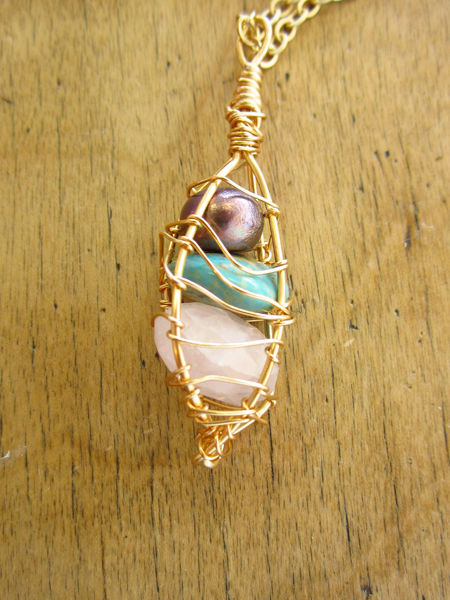 Wire Wrapped Bead Cage