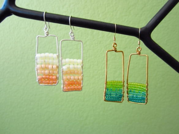 Framed Ombre Earrings
