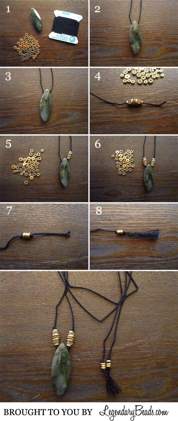 Nylon Long Necklace
