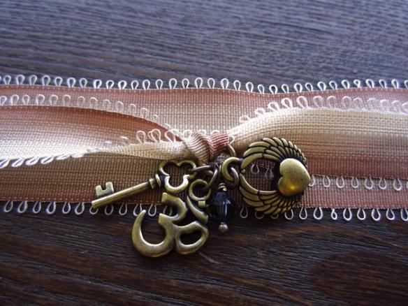 Yoga Wrap Bracelet in Antique Brass
